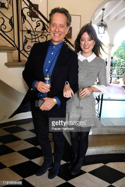 Richard EGrant and daughter Olivia Grant attend the Reception For UK Oscars Nominees at British Consul General's Residence on February 22 2019 in Los...
