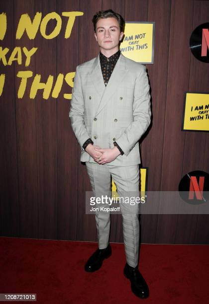 Richard Ellis attends Netflix's I Am Not Okay With This Photocall at The London West Hollywood on February 25 2020 in West Hollywood California