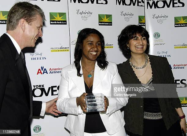 Richard Ellison editorinchief of New York Moves Kathie Ann Joseph director of Breast Cancer Research at Columbia and honoree and Mamoonah Yaqub...