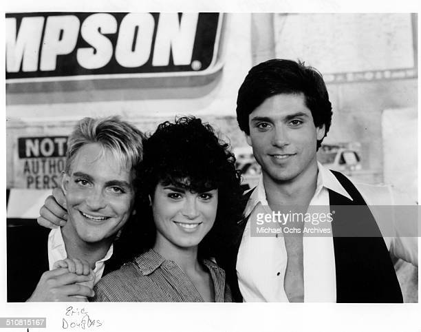 Richard Erdman Betsy Russell and Gerard Christopher pose together for the movie Tomboy circa 1985