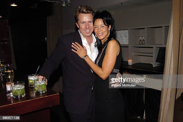 Richard Evans and Kim Heirston Evans attend Birthday Party for Barbara Hemmerle Gollust and Holly Newman at Opia on January 25 2005 in New York City