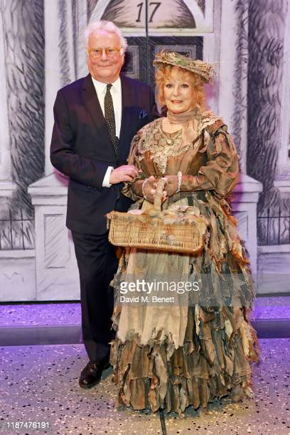 """Richard Eyre and Petula Clark backstage at the press night performance of Disney & Cameron Mackintosh's """"Mary Poppins"""" at The Prince Edward Theatre..."""