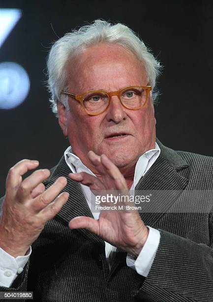 Richard Eyre, director, speaks onstage during The Dresser panel as part of the Starz portion of This is Cable 2016 Television Critics Association...