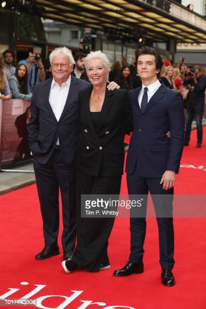 Richard Eyre, Emma Thompson and Fionn Whitehead attend 'The Children Act' UK Premiere at The Curzon Mayfair on August 16, 2018 in London, England.