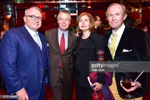 Richard Farley Richard Johnson Sana Sabbagh and Mark Gilbertson attend George Farias Anne Jay McInerney Host A Holiday Party at The Doubles Club on...