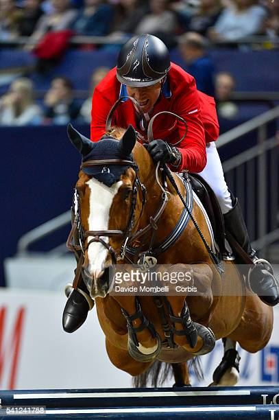Richard Fellers of USA rides Flexible during the Longines FEI World Cup Jumping Final event of the Gothenburg Horse Show at Scandinavium Arena on...