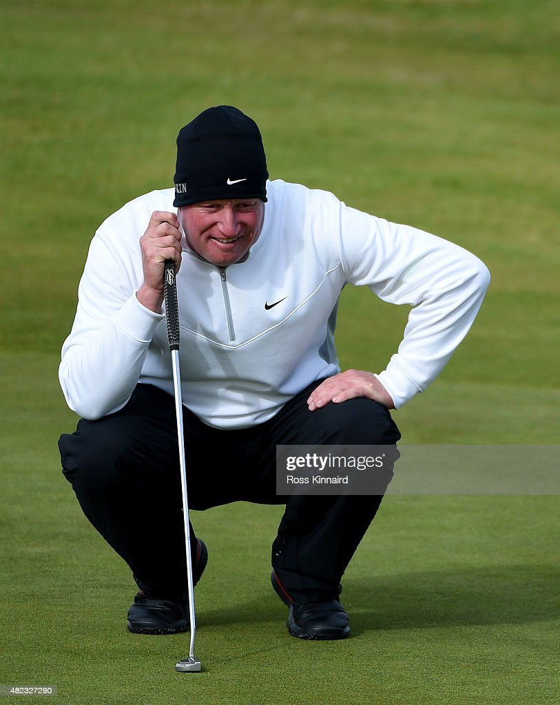 Richard Finch of England in action during the first round of the Saltire Energy Paul Lawrie Matchplay at Murcar Links Golf Course on July 30, 2015 in Aberdeen, Scotland.