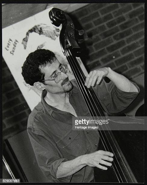 Richard Foot leader and bassist with On The Corner a Charles Mingus style band playing at The Fairway Welwyn Garden City Hertfordshire 6 June 1999...