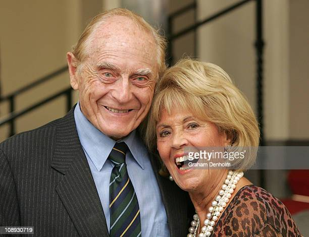 Richard Frank and Lillian Frank arrive at the 2011 L'Oreal Melbourne Fashion Festival program launch at Government House on February 9 2011 in...