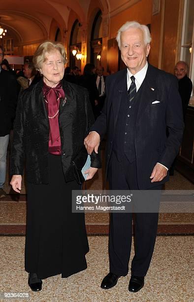 Richard Freiherr von Weizsaecker and his wife Marianne during the annual Corine awards at the Prinzregenten Theatre on November 24 2009 in Munich...