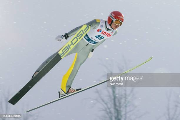 Richard Freitag competes during FIS Ski Jumping World Cup 20182019 Men's HS134 on November 18 2018 in Wisla Poland