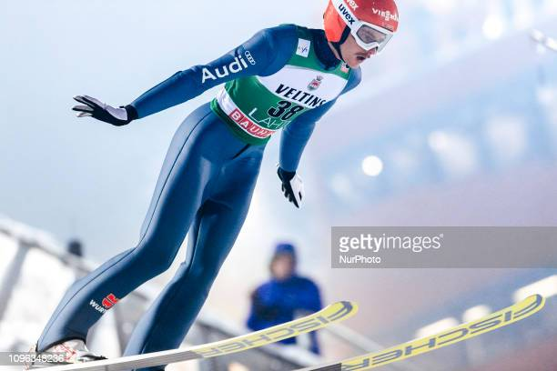 Richard Freitag competes during FIS Ski Jumping World Cup Large Hill Individual Qualification at Lahti Ski Games in Lahti, Finland on 8 February 2019.