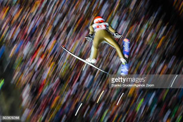 Richard Freitag of Germany competes during the FIS Nordic World Cup Four Hills Tournament on December 29 2015 in Oberstdorf Germany