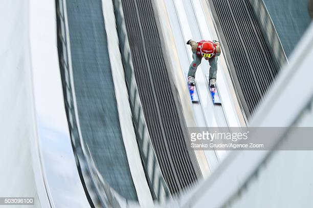 Richard Freitag of Germany competes during the FIS Nordic World Cup Four Hills Tournament on January 1 2016 in GarmischPartenkirchen Germany