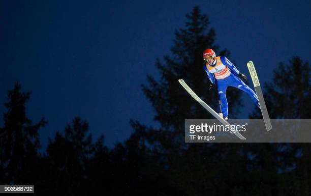 Richard Freitag of Germany competes during the FIS Ski Jumping World Cup on December 09 2017 in TitiseeNeustadt Germany