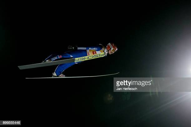Richard Freitag of Germany competes during the qualification round for the Four Hills Tournament on December 29 2017 in Oberstdorf Germany