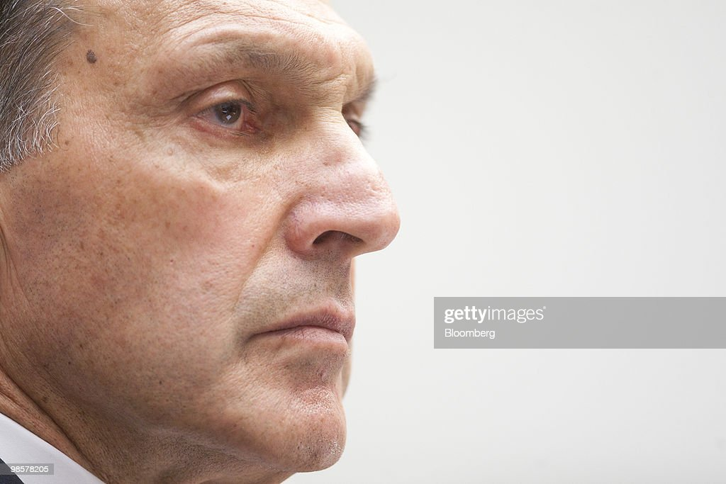 Richard Fuld, former chairman and chief executive officer of Lehman Brothers Holdings Inc., listens during a House Financial Services Committee hearing on the Lehman Brothers bankruptcy in Washington, D.C., U.S., on Tuesday, April 20, 2010. Lehman, which filed the biggest bankruptcy in U.S. history, violated its own risk-management rules with the knowledge of the U.S. Securities and Exchange Commission, a bankruptcy examiner said. Photographer: Andrew Harrer/Bloomberg via Getty Images