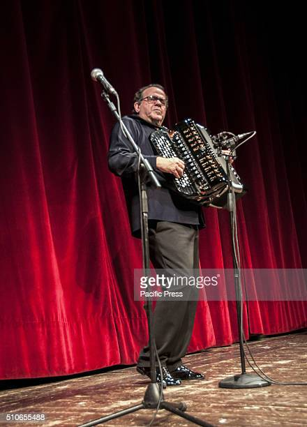 Richard Galliano concert virtuoso of the accordion and the bandoneon and French composer at the Teatro Argentina in Rome for a charity event...