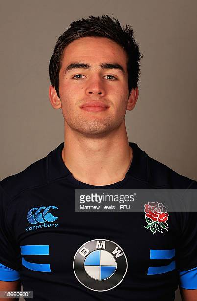 Richard Galloway of England U18's poses for a portrait during an England Rugby Union U18's Headshot session at Loughborough University on November 1...