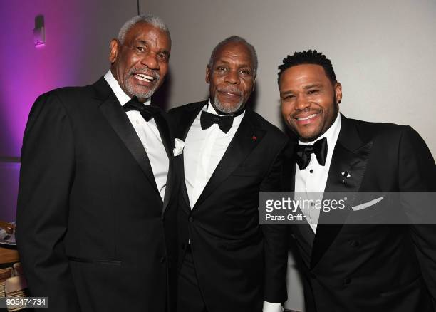 Richard Gant Danny Glover and Anthony Anderson attend 49th NAACP Image Awards After Party at Pasadena Civic Auditorium on January 15 2018 in Pasadena...
