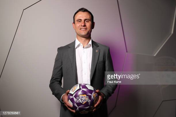 Richard Garcia poses after being announced as the new Perth Glory Head Coach during a Perth Glory A-League Media Opportunity at Glory HQ on September...
