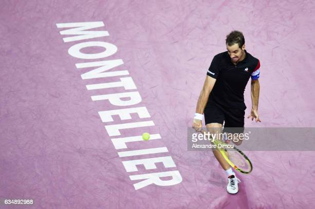 Richard Gasquet during the final of Open Sud de France on February 12 2017 in Montpellier France