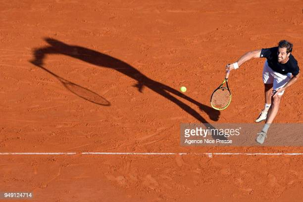 Richard Gasquet of France during the Monte Carlo Rolex Masters 1000 at Monte Carlo on April 20 2018 in Monaco Monaco