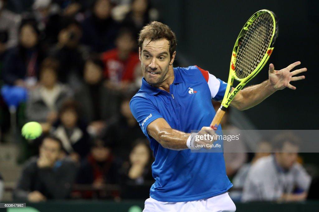 Japan v France: Davis Cup World Group - Day One : News Photo