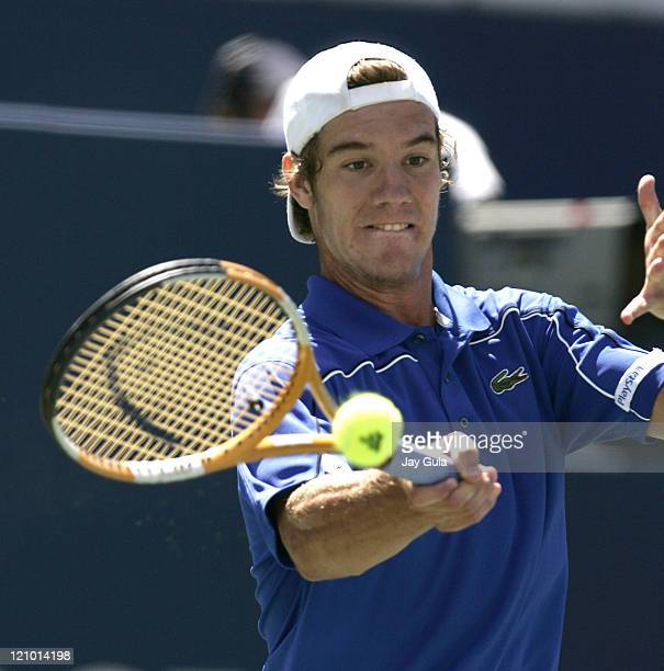 Richard Gasquet of France in action vs Andy Murray of Great Britian in their semi final match at the Rogers Cup ATP Master Series tennis tournament...
