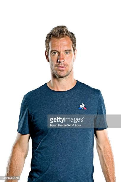 Richard Gasquet of France poses for portraits during the Australian Open at Melbourne Park on January 12 2018 in Melbourne Australia
