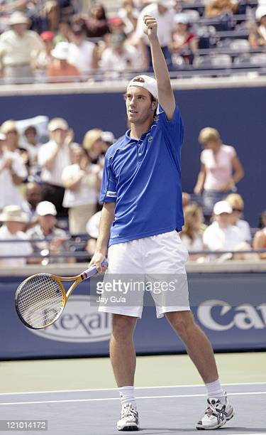 Richard Gasquet of France thanks the crowd after winning his match vs Andy Murray of Great Britian in their semi- final match at the Rogers Cup ATP...