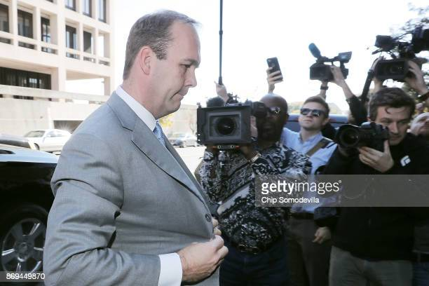 Richard Gates arrives at the Prettyman Federal Court Building for a hearing November 2 2017 in Washington DC Gates and former business partner and...