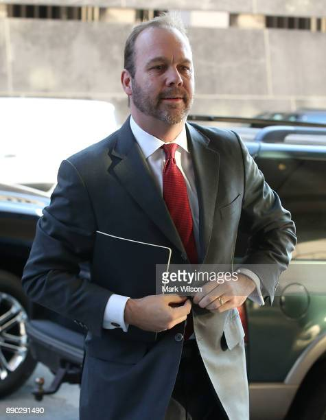 Richard Gates arrives at the Prettyman Federal Courthouse for a hearing December 11 2017 in Washington DC Gates and his former business partner...