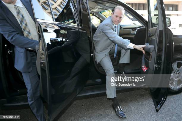 Richard Gates arrives at the Prettyman Federal Courthouse for a hearing November 2 2017 in Washington DC Gates and former business partner and former...