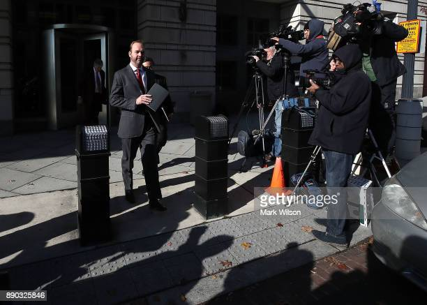 Richard Gates leaves the Prettyman Federal Courthouse after a hearing December 11 2017 in Washington DC Gates and his former business partner former...