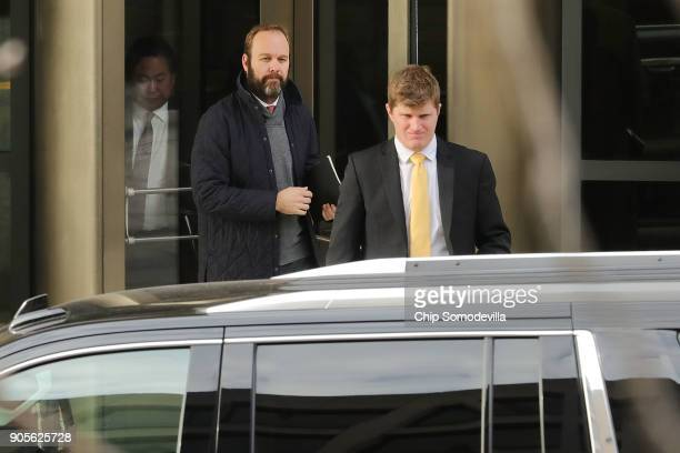 Richard Gates leaves the Prettyman Federal Courthouse January 16 2018 in Washington DC Gates and his former business partner and Trump campaign...
