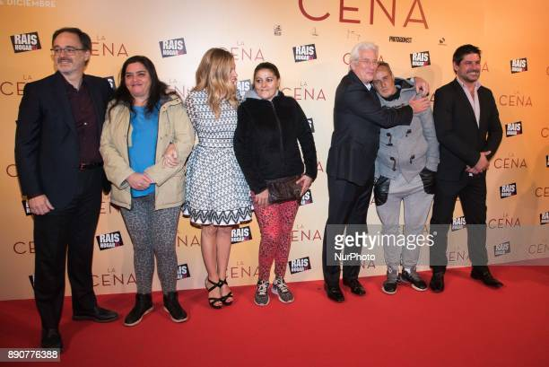 Richard Gere Alejandra Silva and RAIS foundation people attend the 'The Dinner' movie premiere at 'Capitol Cinema' in Madrid on Dec 11 2017