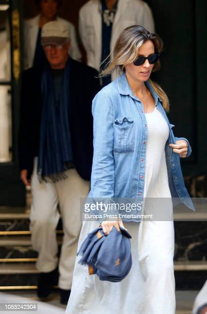 Richard Gere and Alejandra Silva are seen leaving a dentist's office on October 24 2018 in Madrid Spain