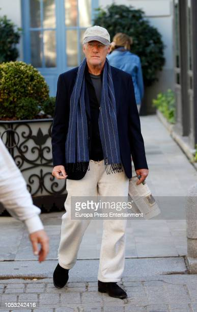 Richard Gere and Alejandra Silva are seen on October 24, 2018 in Madrid, Spain.