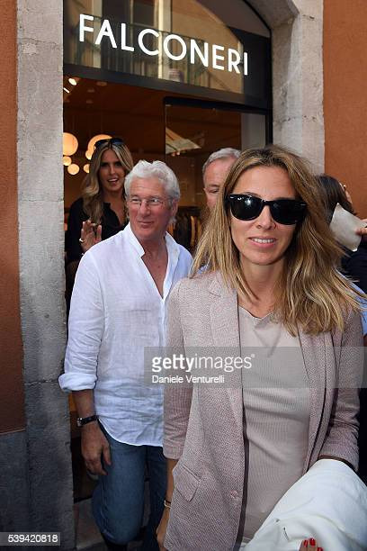 Richard Gere and Alejandra Silva attend 62 Taormina Film Fest Day 1 on June 10 2016 in Taormina Italy