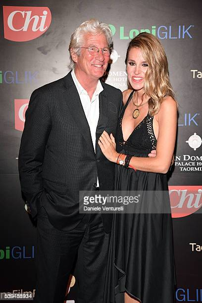 Richard Gere and Alejandra Silva attend 62 Taormina Film Fest Opening Gala Dinner at Hotel San Domenico on June 11 2016 in Taormina Italy