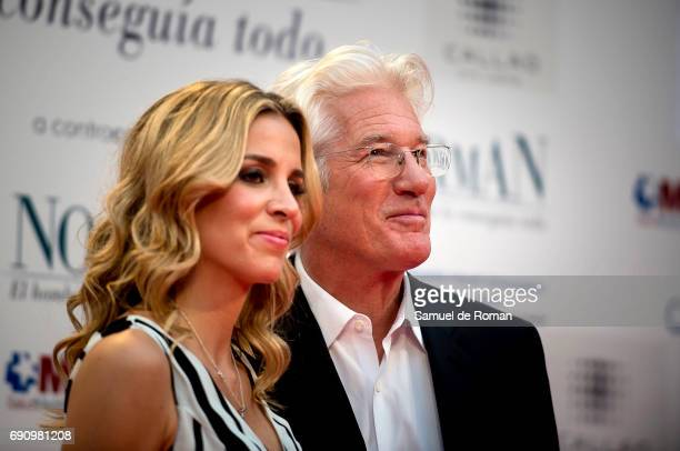 Richard Gere and Alejandra silva attend 'Norman The Moderate Rise and Tragic Fall of a New York Fixer' Madrid Premiere on May 31 2017 in Madrid Spain