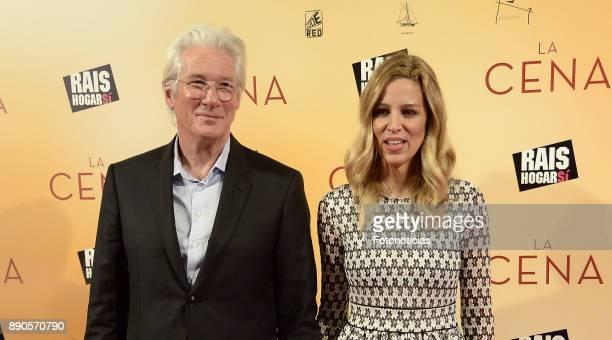 Richard Gere and Alejandra Silva attend the 'La Cena' premiere at the Capitol cinema on December 11 2017 in Madrid Spain