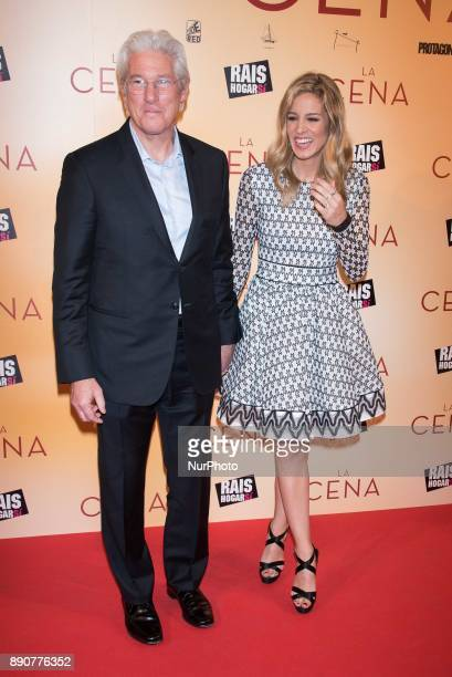Richard Gere and Alejandra Silva attend the 'The Dinner' movie premiere at 'Capitol Cinema' in Madrid on Dec 11 2017