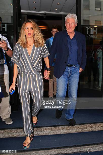 Richard Gere and Alejandra Silva seen on May 28 2016 in Milan Italy