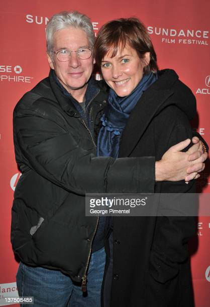 Richard Gere and Carey Lowell attend the Arbitrage Premiere at the Eccles Center Theatre during the 2011 Sundance Film Festival on January 21 2012 in...