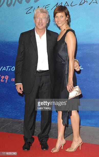 Richard Gere and Carey Lowell attend The Inner Life of Martin Frost Premiere at the Kursaal Palace during the 2007 San Sebastian Film Festival, on...