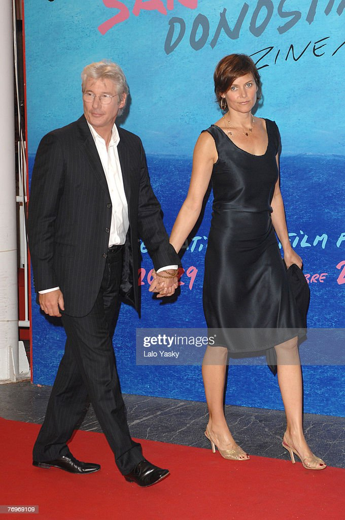 Richard Gere and Carey Lowell attend The Inner Life of Martin Frost Premiere at the Kursaal Palace during the 2007 San Sebastian Film Festival, on September 23, 2007 in San Sebastian, Spain.