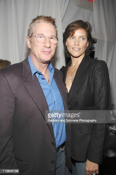 Richard Gere and Carey Lowell during 'Bee Season' New York City Premiere After Party at IFC Center in New York New York United States