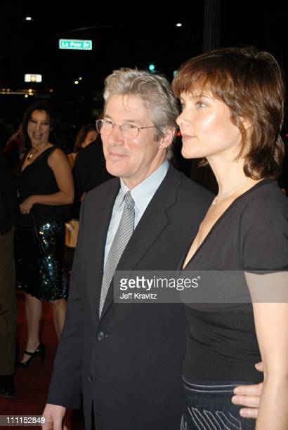 Richard Gere and Carey Lowell during Chicago Premiere at Academy of Motion Picture Arts Sciences in Los Angeles CA United States